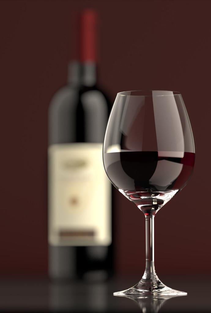 Wine red glass