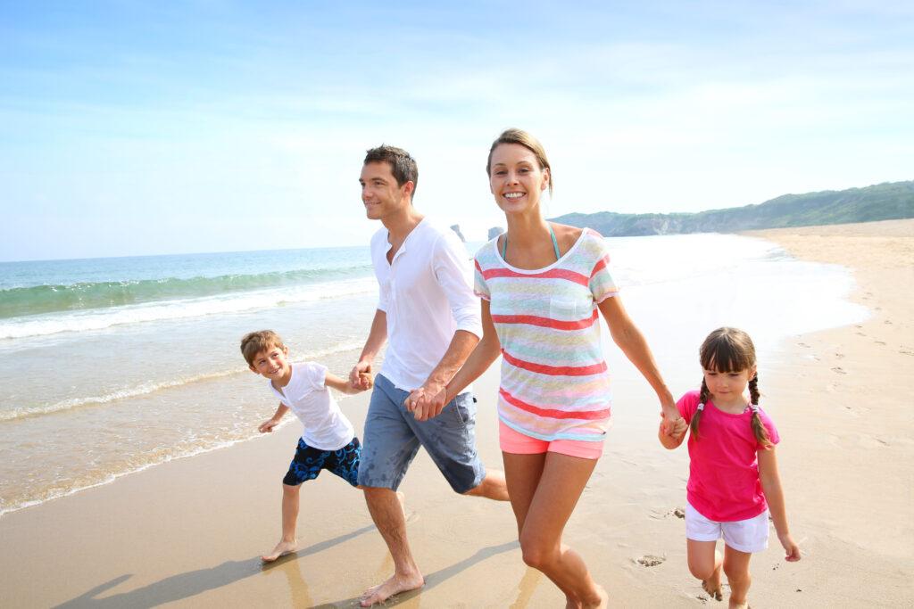 Rodzina, dzieci, morze